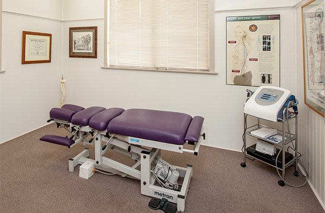 Toowoomba Chiropractic Centre's chiropractic consulting room