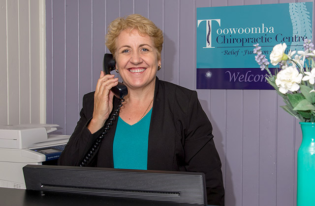 Tracy who is ready to assist you at the Toowoomba Chiropractic Centre